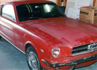 1965 ford mustang 2+2 fastback restoration original photo 200 Shop Work